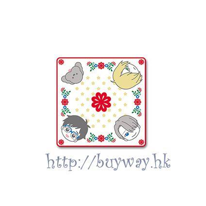 勇利!!! on ICE 一番賞 F 賞「勇利 + 維克托 + 尤里 + Makkachin」小手帕 Kuji Prize F【Yuri on Ice】