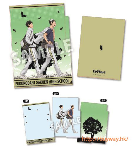 排球少年!! 「木兔 + 赤葦」3 層文件套 3 Pocket Clear File Fukurodani Attendance【Haikyu!!】