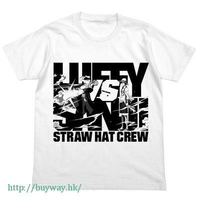 海賊王 (中碼)「路飛 + 山治」白色 T-Shirt Luffy VS Sanji T-Shirt / WHITE - M【ONE PIECE】