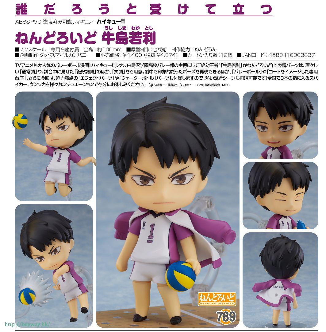 排球少年!! 「牛島若利」Q版 黏土人 Nendoroid Ushijima Wakatoshi【Haikyu!!】