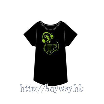 月歌。 (均碼)「彌生春 (3月)」黑色 T-Shirt T-Shirt BLACK Yayoi Haru【Tsukiuta.】
