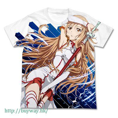 刀劍神域系列 (加大)「亞絲娜」全彩 白色 T-Shirt Asuna Full Graphic T-Shirt / WHITE-XL【Sword Art Online Series】