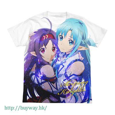 刀劍神域系列 (加大)「亞絲娜 + 紺野木綿季」全彩 白色 T-Shirt Yuuki & Asuna Full Graphic T-Shirt / WHITE-XL【Sword Art Online Series】