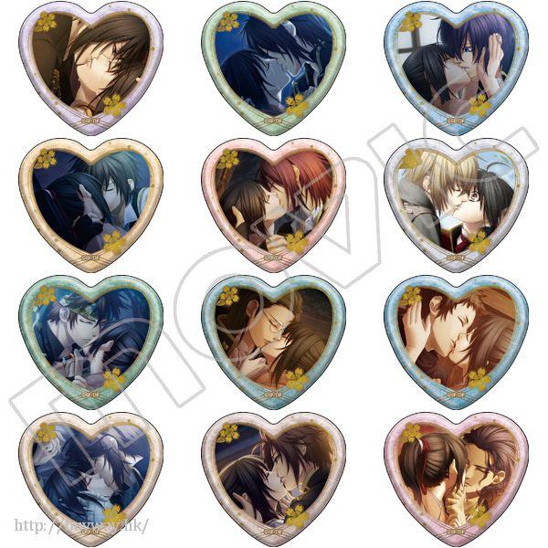 薄櫻鬼系列 真改 華ノ章 接吻 收藏徽章 (12 個入) Kiss Kyara Badge Collection (12 Pieces)【Hakuouki】