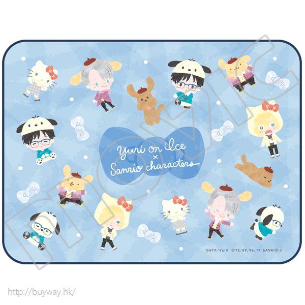 勇利!!! on ICE 「勇利 + 維克托 + 尤里 + Makkachin」Yuri on Ice × Sanrio characters 毯子 Artket Yuri on Ice×Sanrio characters【Yuri on Ice】