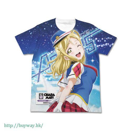 LoveLive! Sunshine!! (加大)「小原鞠莉」白色 T-Shirt Mari Ohara Full Graphic HAPPY PARTY TRAIN Ver. T-Shirt / WHITE-XL【Love Live! Sunshine!!】