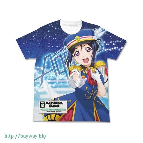 LoveLive! Sunshine!! (加大)「松浦果南」白色 全彩 T-Shirt Kanan Matsuura Full Graphic HAPPY PARTY TRAIN Ver. T-Shirt / WHITE-XL【Love Live! Sunshine!!】