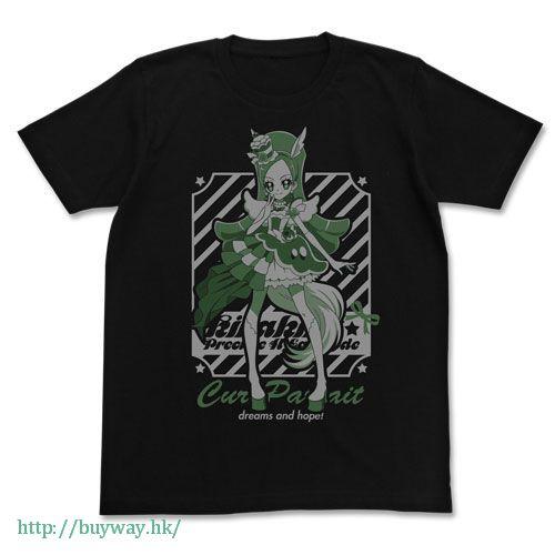光之美少女系列 (中碼)「綺羅星夏爾 / 綺羅鈴」黑色 T-Shirt Cure Parfait T-Shirt / BLACK-M【Pretty Cure Series】