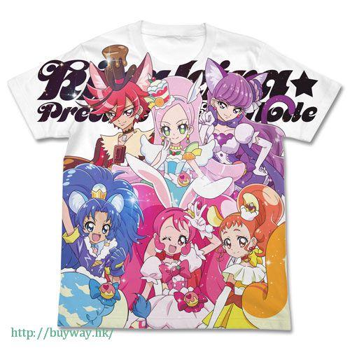 光之美少女系列 (大碼)「宇佐美一花 / 奶油天使」白色 全彩 T-Shirt Pretty Cure Series - Full Graphic T-Shirt / WHITE-L【Pretty Cure Series】