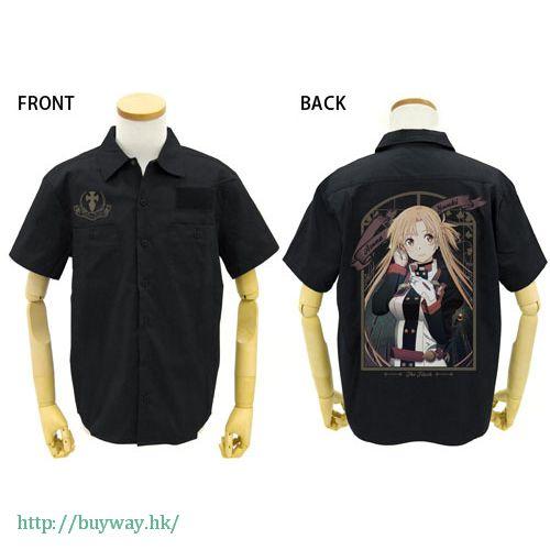 刀劍神域系列 (加大)「亞絲娜 (結城明日奈)」黑色 工作襯衫 Asuna Full Color Work Shirt / BLACK-XL【Sword Art Online Series】