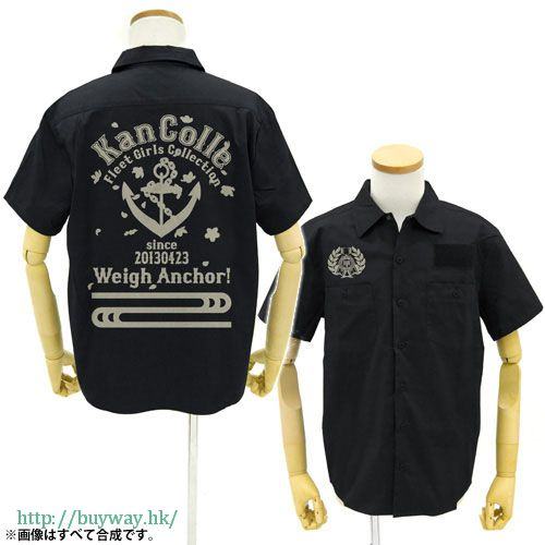 艦隊 Collection -艦Colle- (加大)「提督專用」黑色 工作襯衫 Teitoku Senyou Work Shirt / BLACK-XL【Kantai Collection -KanColle-】
