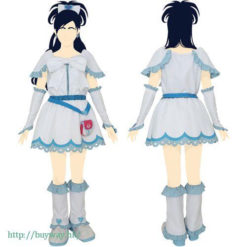 光之美少女系列 (大碼)「雪城穗乃香 / 雪天使」Cosplay 服飾 Cure White Costume Set / Ladies-L【Pretty Cure Series】