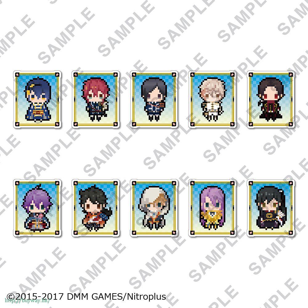 刀劍亂舞-ONLINE- 橡素風格 透明夾徽章 Vol.1 (10 個入) Clear Clip Badge Vol. 1 (10 Pieces)【Touken Ranbu -ONLINE-】