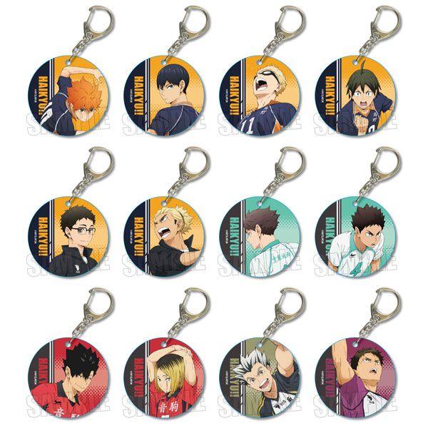 排球少年!! 軟PVC 透明掛飾 (12 個入) Yawaraka Clear Charm (12 Pieces)【Haikyu!!】