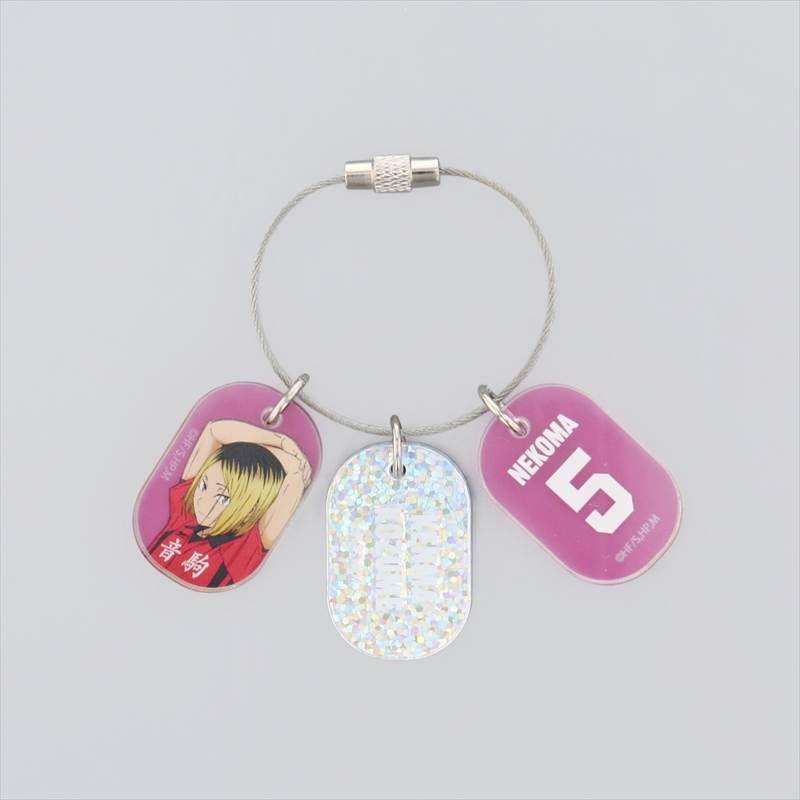 排球少年!! 「孤爪研磨」3連 亞克力匙扣 Triple Acrylic Key Chain Kozume Kenma【Haikyu!!】