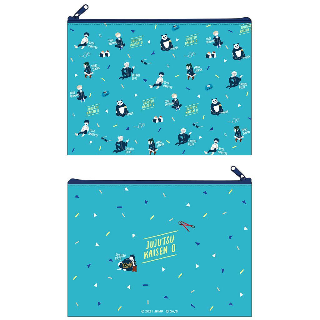 咒術迴戰 「劇場版 咒術迴戰 0」平板袋 藍色 Jujutsu Kaisen 0: The Movie Flat Pouch Yuru Pallet B【Jujutsu Kaisen】