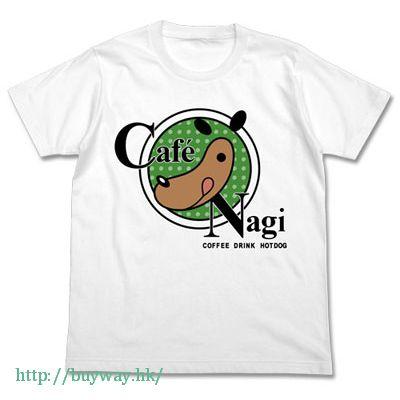 遊戲王 (加大)「Cafe Nagi」白色 T-Shirt Cafe Nagi Logo T-Shirt / WHITE-XL【Yu-Gi-Oh!】