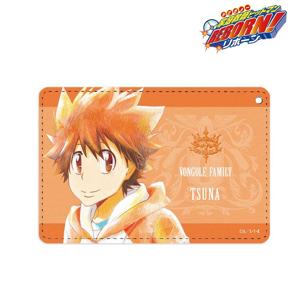家庭教師HITMAN REBORN! 「澤田綱吉」Ani-Art Aqua Label 皮革證件套 Ani-Art Aqua Label 1 Pocket Pass Case Sawada Tsunayoshi【Reborn!】