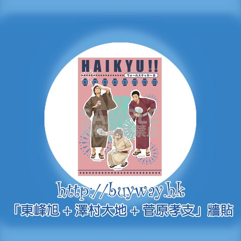 排球少年!! 「東峰旭 + 澤村大地 + 菅原孝支」牆貼 Wall Sticker D Karasuno Third-year Student【Haikyu!!】