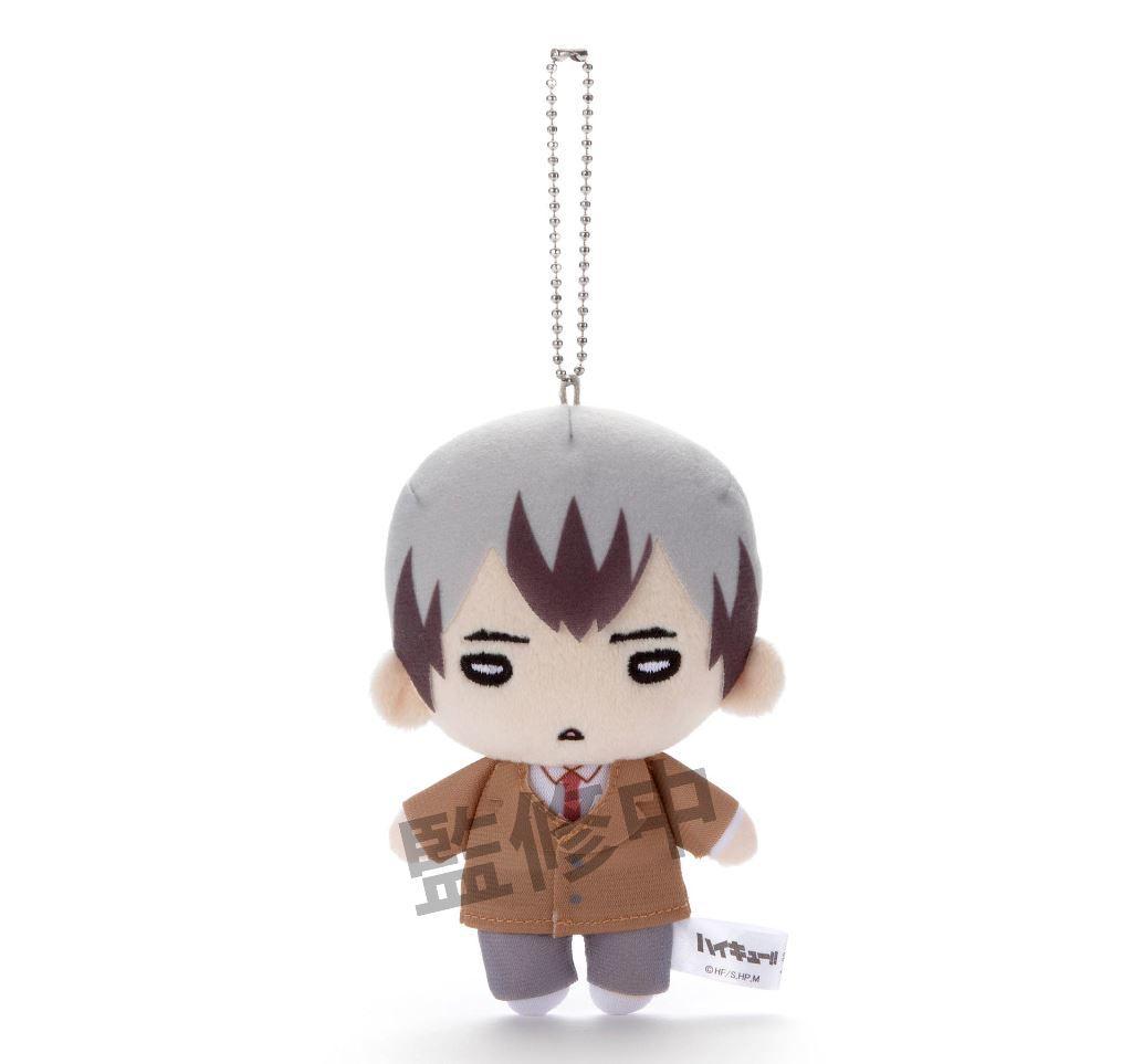 排球少年!! 「北信介」稲荷崎高校校服 Ver. 豆豆眼 公仔掛飾 Nitotan Inarizaki High School Uniform Plush with Ball Chain Kita【Haikyu!!】