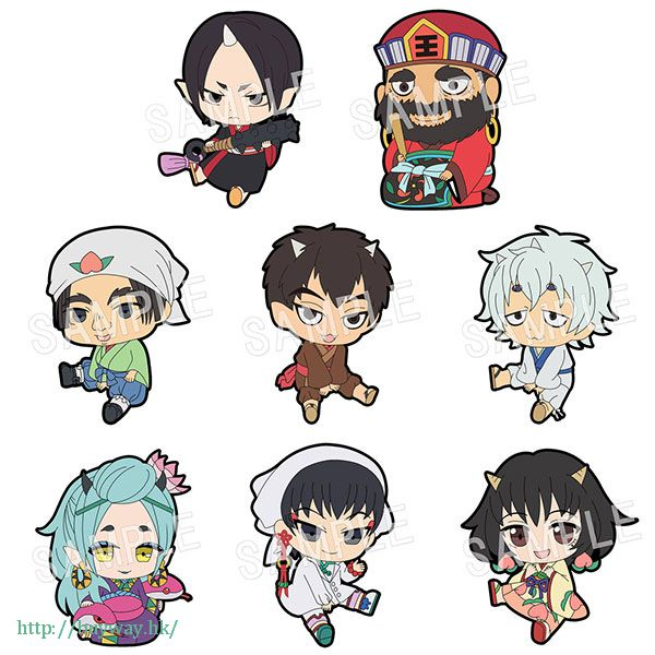 鬼燈的冷徹 排排坐 橡膠掛飾 (8 個入) Petanko Rubber Strap  (8 Pieces)【Hozuki no Reitetsu】