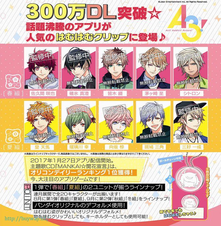 A3! 春組 + 夏組 42mm 夾子掛飾 (40 個入) Hamuhamu Clip S/S (40 Pieces)【A3!】