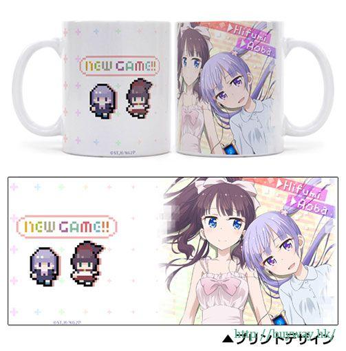 New Game! 「涼風青葉 + 瀧本日富美」全彩 陶瓷杯 Full Color Mug: Aoba & Hifumi【New Game!】