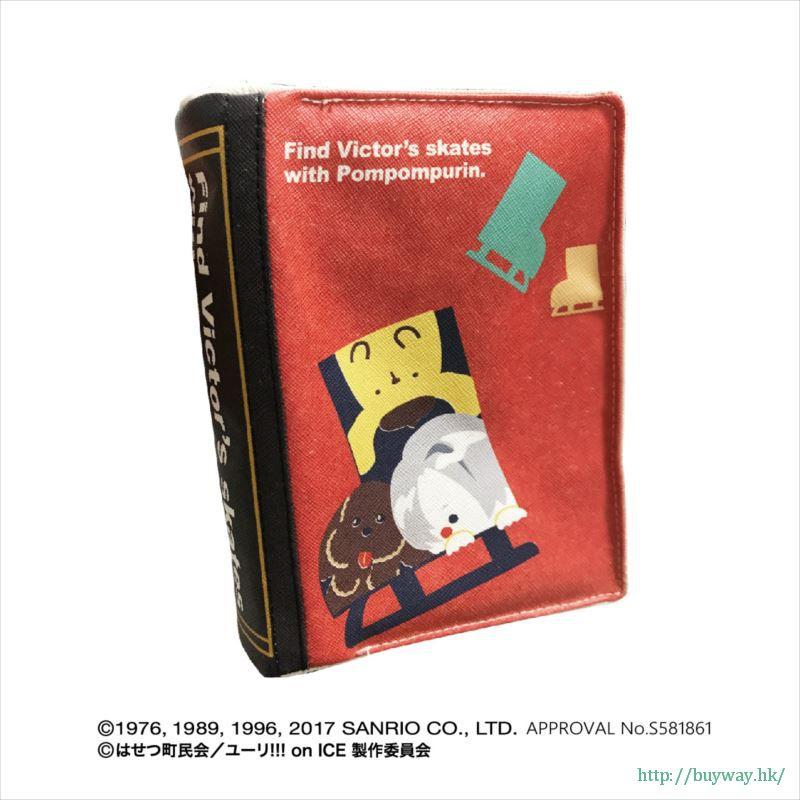勇利!!! on ICE 「維克托.尼基福羅夫 + 布丁狗」Yuri on Ice × Sanrio characters 書套 Yuri on Ice×Sanrio characters Book Type Pouch Victor & Pom Pom Purin【Yuri on Ice】