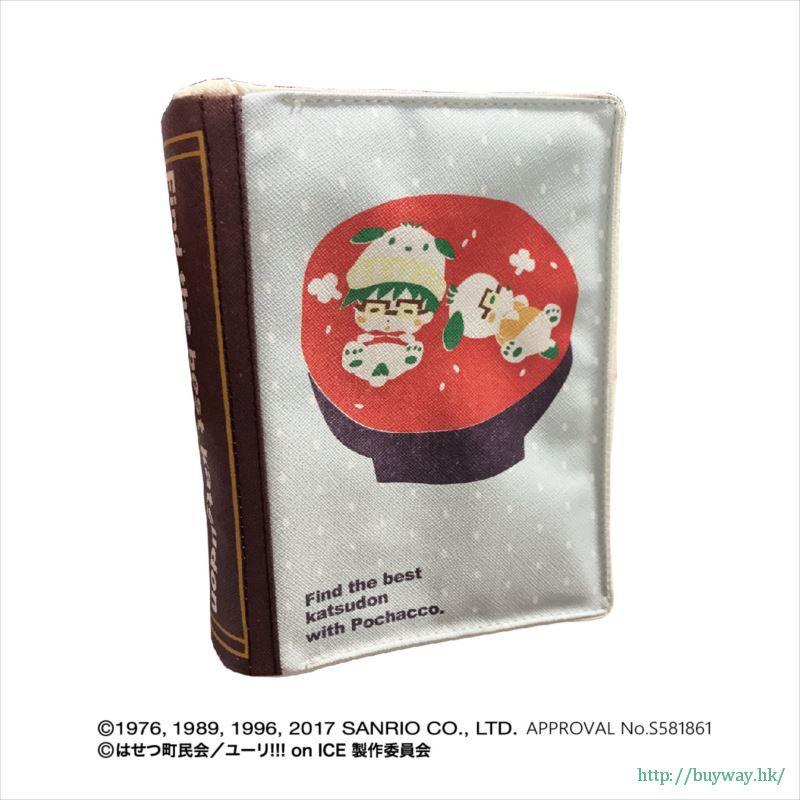 勇利!!! on ICE 「勝生勇利 + PC狗」Yuri on Ice × Sanrio characters 書套 Yuri on Ice×Sanrio characters Book Type Pouch Katsuki Yuri x Pochacco【Yuri on Ice】
