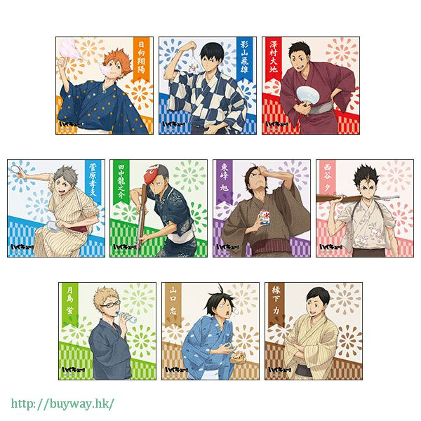 排球少年!! 色紙 夏祭 ver. (10 個入) Stand Mini Shikishi Natsumatsuri ver. (10 Pieces)【Haikyu!!】