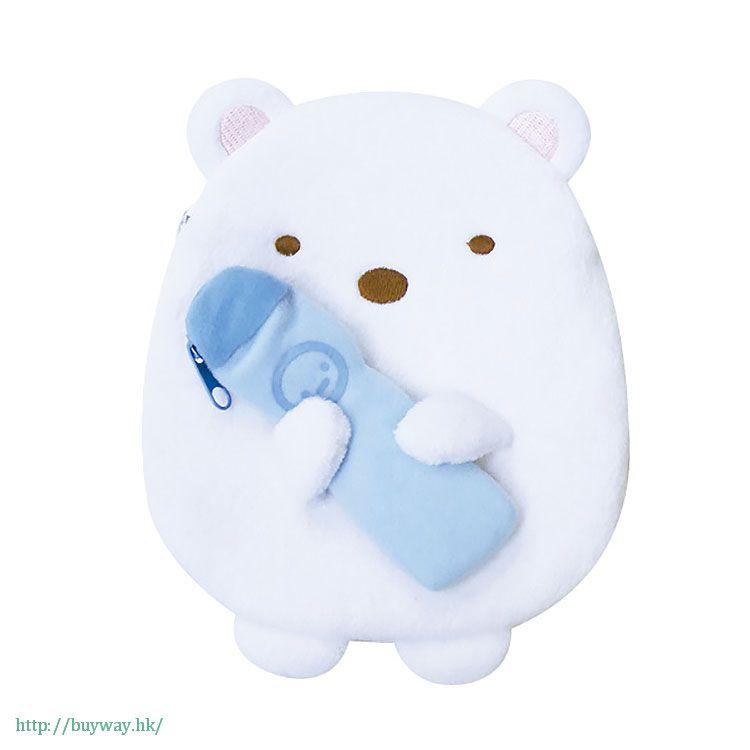角落生物 「白熊 (しろくま)」2 格 小物袋 Double Pouch Shirokuma【Sumikko Gurashi】