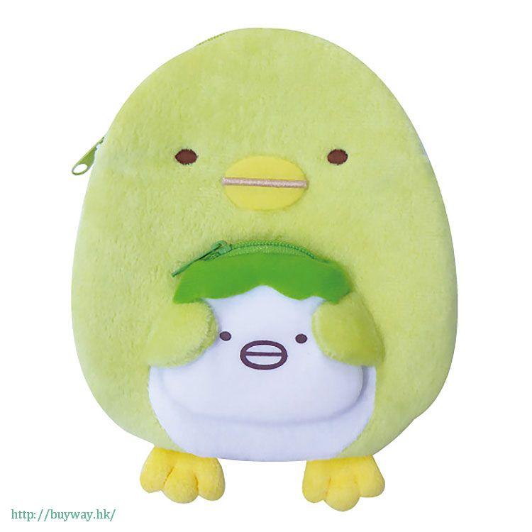 角落生物 「企鵝? (ぺんぎん?)」2 格 小物袋 Double Pouch Penguin?【Sumikko Gurashi】