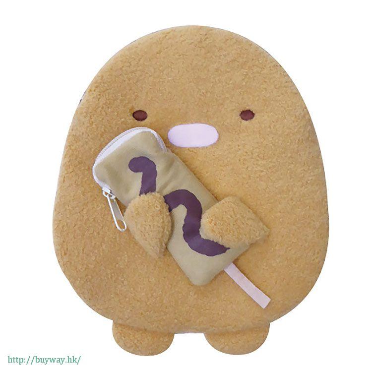 角落生物 「炸豬排 (とんかつ)」2 格 小物袋 Double Pouch Tonkatsu【Sumikko Gurashi】